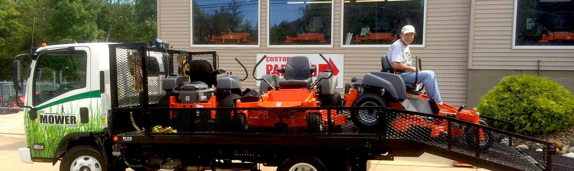 mower shop provides delivery of your mower