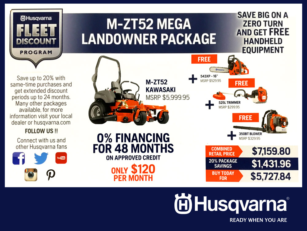 Commercial Husqvarna Fleet Program